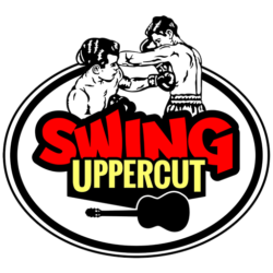 logo du groupe Swing Uppercut, groupe de Caen Normandie, atomic geek swing, guitare, boxe